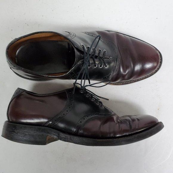 Johnston & Murphy Leather Saddle Shoes Sz 8.5 D/B
